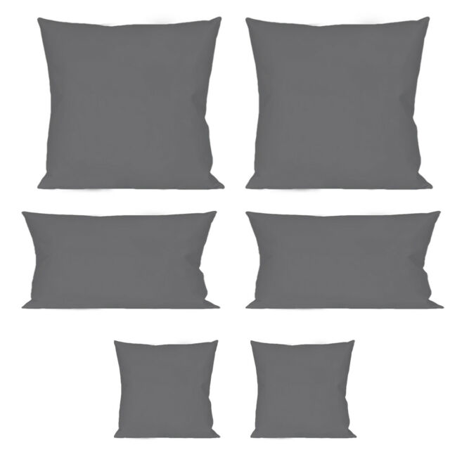2er Pack Microfaser Kissenbezug Kissenhülle Couch Dekokissen 80x80 40x80 40x40cm
