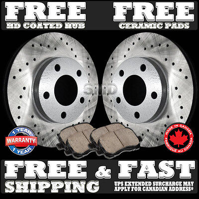 A0300 FIT 1994 1995 1996 Chevrolet Impala SS Drilled Brake Rotors Pads Rear