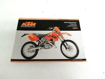 1998 KTM 125 200 250 300 380 SX MXC EXC EGS Motorcycle Owners ...