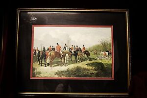 J-F-Herring-Snr-Print-034-The-Meet-034-Signed-Dated-Matted-and-Framed