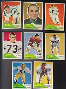 1960 Fleer Team Lot of 13 Los Angeles CHARGERS EXMT GILLMAN MAGUIRE