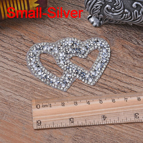 Heart Pattern Iron-on Patches Clothes Appliques Rhinestone Clothing Accessaries