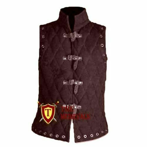 Medieval knight armor for theater VEST Gambeson Aketon Jacket costumes Dress