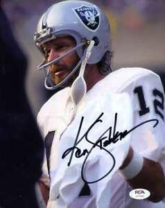 Ken-Stabler-PSA-DNA-Coa-Autograph-Hand-Signed-8x10-Raiders-Photo-Autograph