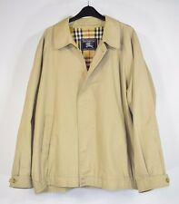 Vintage Burberry Made In England Beige Check Collar Harrington Jacket Size XL