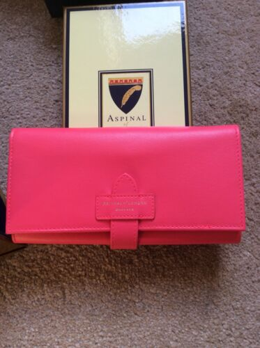 Aspinal Of London Leather Purse Pink BNIB NEW
