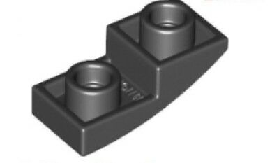 Lego 4x Slope curved inverted pente courbe inversé 2x1 gris f//d b gray 24201