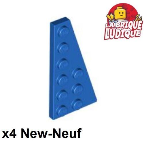 LEGO Bausteine & Bauzubehör 4x Flügel Wedge flach 6x3 rechts rechts blau/blau 54383 neu Lego