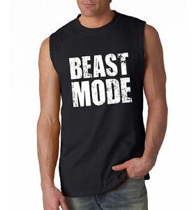 Beast Mode Men 39 S Sleeveless T Shirt Athlete Gym Workout