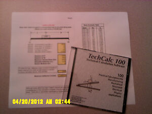 TechCalc 100 Technical Calculations for Students, Designers and Engineers