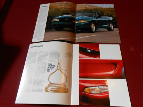 1994 FORD MUSTANG 26 p CATALOG BROCHURE RARE PROSPECT CARD /& CERTIFICATE!