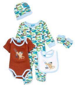 Baby Boys T-Shirt Shorts /& Bib Set Dinosaurs 3 Piece Set 0-3 3-6 6-12 Months