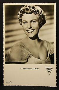 Eva-Ingeborg-Scholz-Actor-Movie-Photo-Foto-Autogramm-Karte-AK-Lot-G-9606