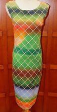 NEW Akris punto Multi Color Sleeveless Lined Dress US 8 F 40 D 38 $1290