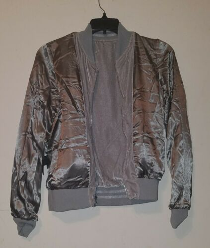 Madden Sz Steve M Women's Jacket Nwt Velour Gray Sliver Bomber w5Tcgq