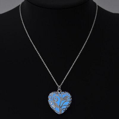 Magic Steampunk Pretty Round Fairy Locket Glow In The Dark Pendant Necklace Gift