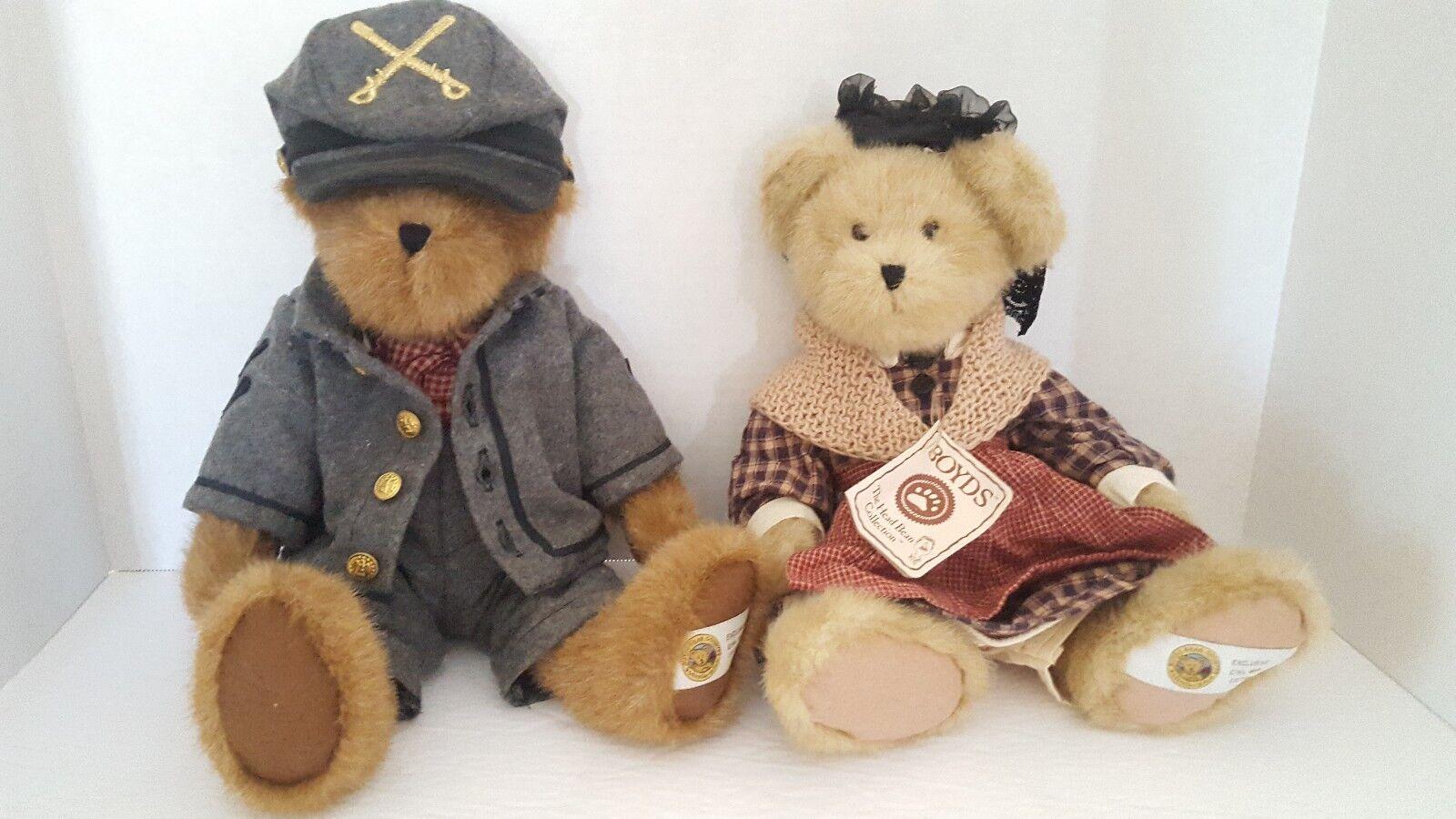 Boyds Bears Exclusive Civil War Edition Plush Abe Mr. Mrs Dixon Retirosso