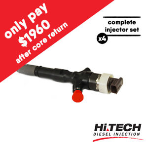 Exchange-diesel-injector-x4-for-Toyota-Hiace-IKD-FTV-Denso-2950500820-2367039385