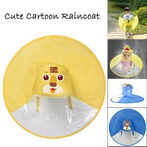 Children Kids Rain Coat UFO Children Umbrella Hat Magical Hands Free ... 830c9327f16a