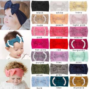Baby-Kid-Big-Bow-Hairband-Turban-Wrap-Knot-Headwrap-Headband-Hair-Band-Headdress