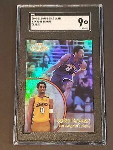 2000 Topps GOLD Label Class 1 Kobe Bryant SGC 9 Newly Graded LOW POP PSA ?