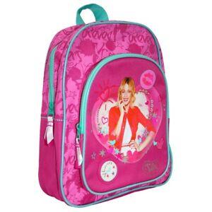 Mochila-chica-rosa-Violetta-con-bolsillo-frontal-31-x-25-x-11-cm