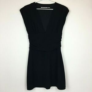 Blessed-are-the-Meek-Womens-Black-Sleeveless-Lined-Dress-Size-8
