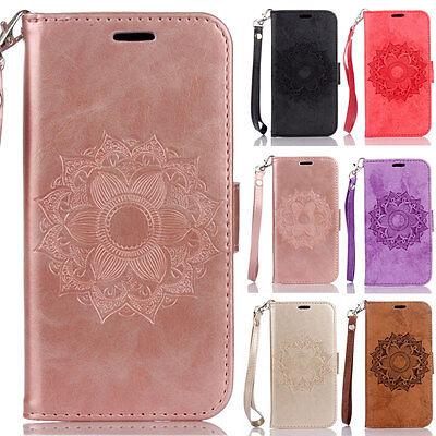 Mandala Wallet Leather Flip Case Cover For Samsung J3 J510 S5 S6 S7 S8 S9 Plus