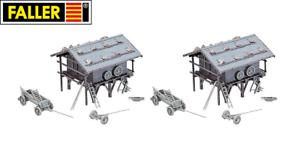 Faller-H0-191749-Grain-Silo-2-Piece-New-Boxed