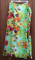 Soft Surroundings Tropical Sarong Skirt (misses' Sizes M/l/xl) In Package
