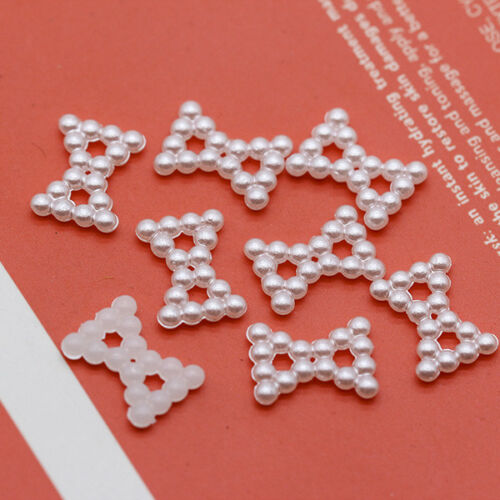 50p Bowknot star heart Flat Back Pearl sewing beads Scrapbook craft cards making