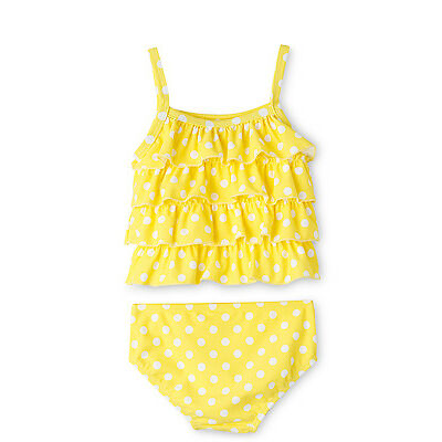 NEW Sprout Two Piece Swim Set - Frill Tankini Yellow