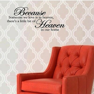 because someone we love is in heaven vinyl wall decals quotes sayings 794