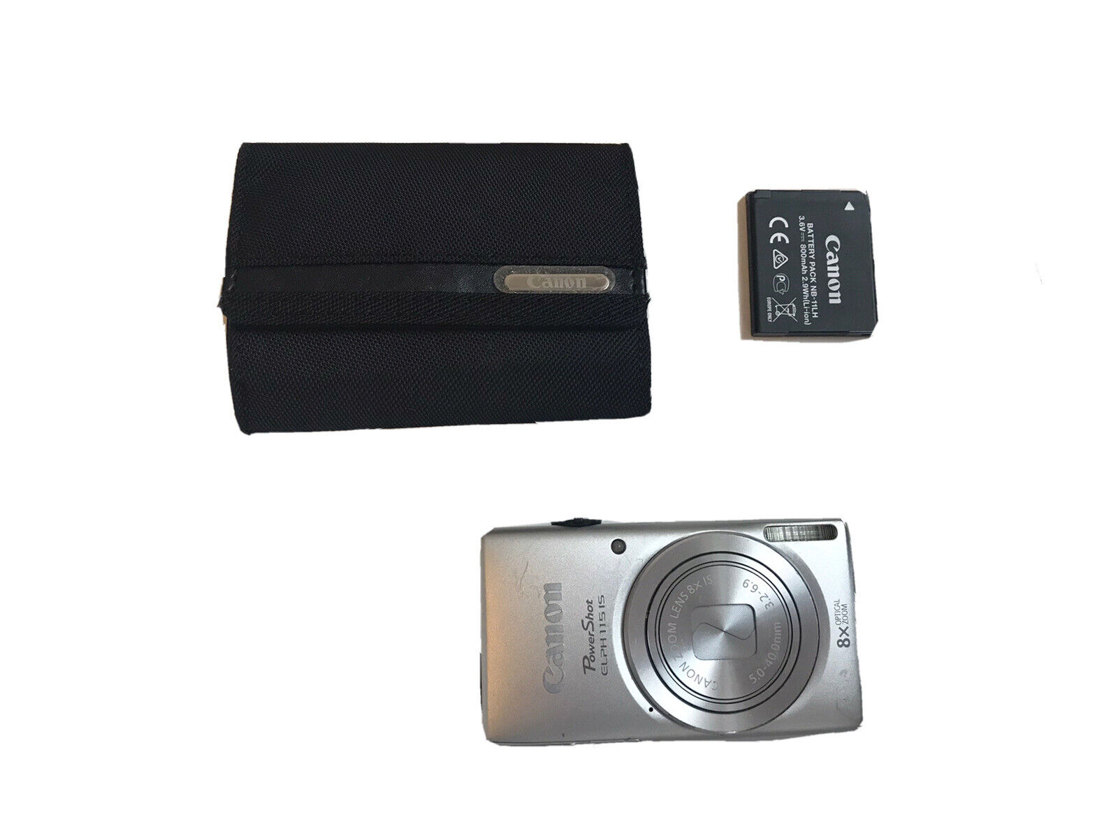 Camera Canon PowerShot ELPH 115 IS Silver 28mm with Case Free Shipping