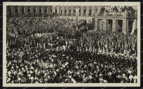 Foto-AK-Stuttgart-Neues-Schloss-Deutsches-Turnfest-1933-Banner-Übergabe