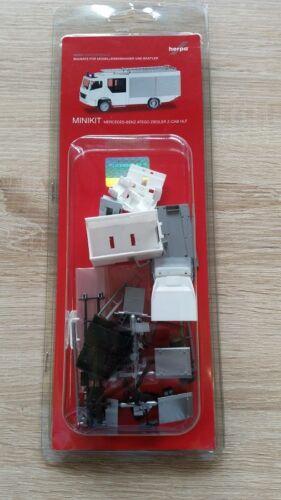 Weiss Herpa Minikit 012980-1//87 Mb Atego Ziegler Z-Cab Lf-20 Neu