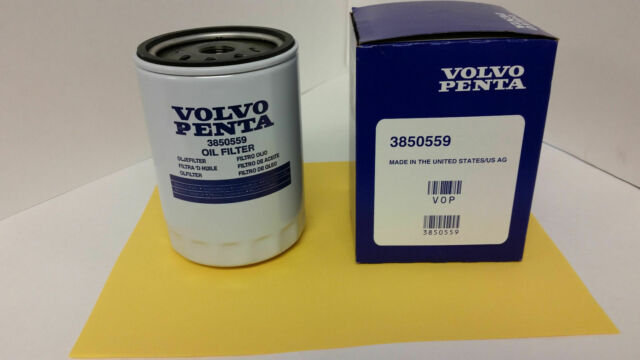 volvo penta new oem remote oil filter 3850559 43l 50l