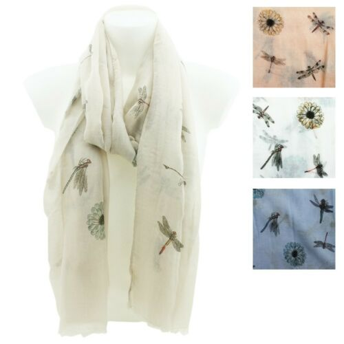 DRAGONFLY Print Scarf Ladies Womens Dragonflies Shawl//Hijab Soft Quality Wrap
