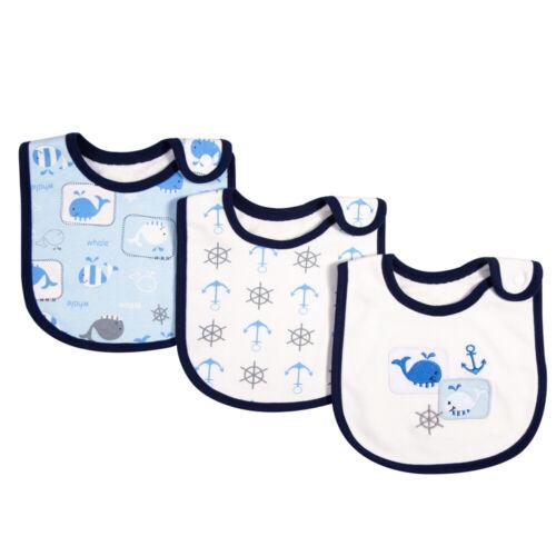 3 Pack Baby Bibs 100/% Organic Cotton Drooling Teething Feeding Bib Soft P3D2