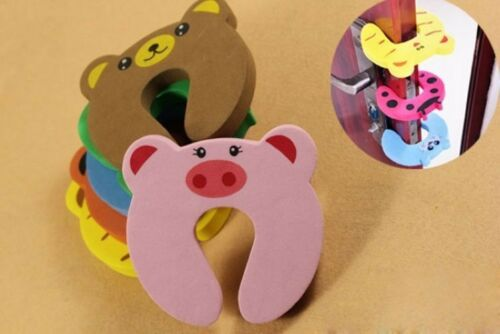 4Pcs Kids Baby Toddler Safety Animal Cartoon Door Stopper Finger Pinch Guard