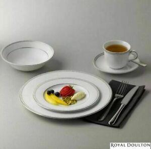 Royal-Doulton-Paramount-Platinum-20-Piece-Porcelain-Dinnerware-Set-Plates-Bowls