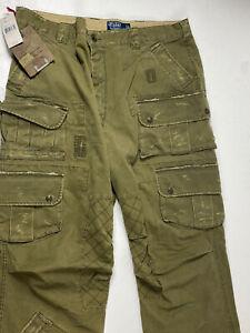 De Coleccion Polo Ralph Lauren Para Hombre Pantalones Tipo Cargo De Campo De Estilo Militar Verde 38 X 34 285 Ebay