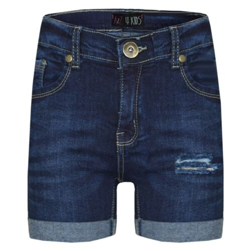 Infantil Pantalón Corto Niño Denim Rasgado Azul Chinos Bermudas Vaqueros Corto