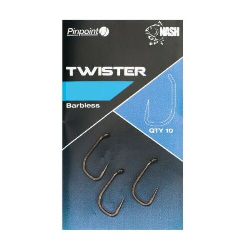 Nash Hooks Twister Chod Flota Claw Fang Long Shank Barbed Barbless Fishing
