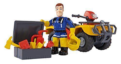 Simba Feuerwehrmann Sam Mercury-Quad mit Figur und Zubehör Kinder Spielzeug NEU