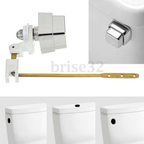 Push Botton Side Mount Toilet Tank Lever Flush Handle Brass Arm Fits Most  SU