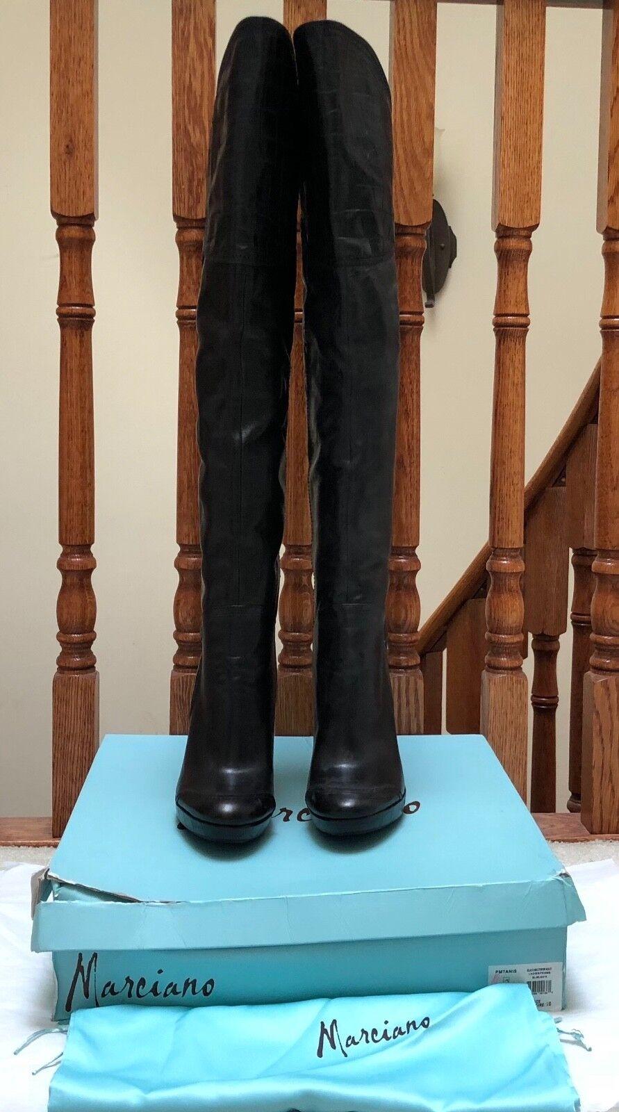 risparmia il 35% - 70% di sconto  578 NIB MARCIANO GUESS TANIS TANIS TANIS nero MULTI RUNWAY LEATHER stivali scarpe 10 LAST1  il miglior servizio post-vendita