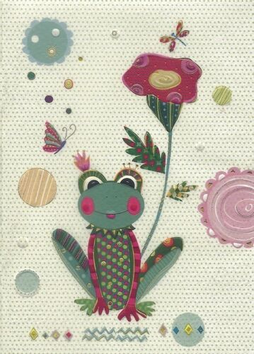Turnowsky Art Notizbuch liniert A6 Notebook mit Reliefdruck Motiv: Frosch