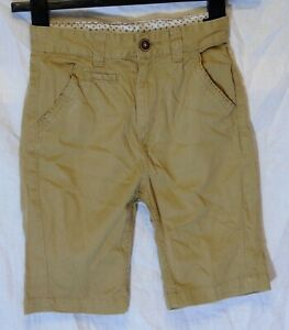Ragazzi-George-Pietra-Beige-Chino-Denim-regolabili-in-vita-Pantaloncini-Eta-6-7-anni
