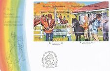 Finland 1990 FDC - Youth Hobbies - Riding and Taking Care of Horses and Ponies